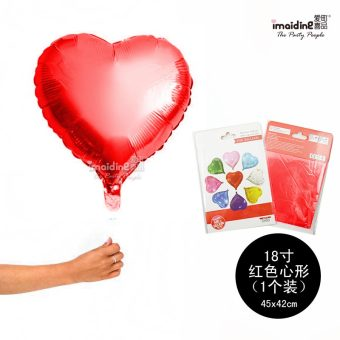 INS heart-shaped aluminum foil balloon