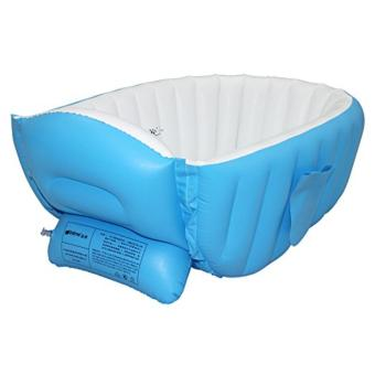 Intime Baby Infant Travel Inflatable Non Slip Bathing TubBathtub(without air pump) Blue - 3