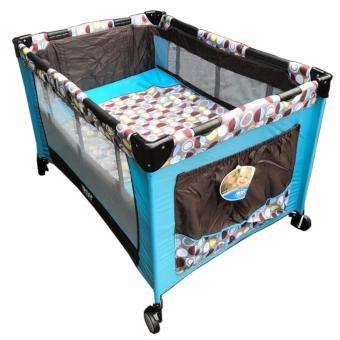IRDY P508 Baby Crib Playpen w/ Mosquito Net (Blue)