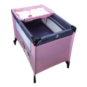 IRDY P529BJ Space Saver Playpen (Pink/Gray) - 2