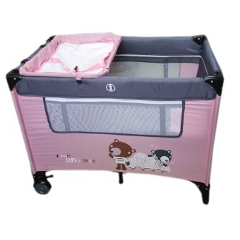 IRDY P529BJ Space Saver Playpen (Pink/Gray) Price Philippines