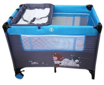 Irdy Portable Space Saver Crib Playpen (blue) - 2