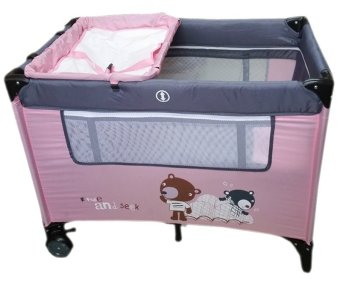 Irdy Portable Space Saver Crib Playpen (pink) Price Philippines