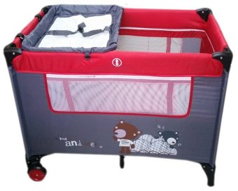 Irdy Portable Space Saver Crib Playpen (red) Price Philippines