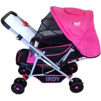 IRDY S0829A Stroller with Mosquito Net (Pink)