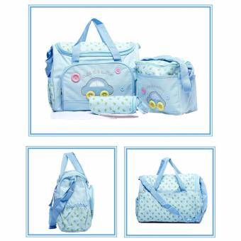 J&J 4-in-1 MUMMY Multi-Functional Baby Diaper Nappy Bag - SkyBlue