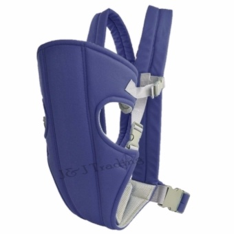 J&J Adjustable Sling Wrap Rider Infant Baby Carrier (NavyBlue)