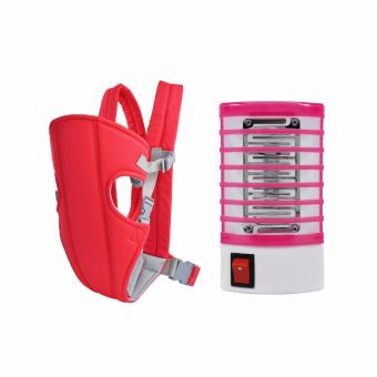 J&J Adjustable Sling Wrap Rider Infant Baby Carrier (Red) withElectron Go Out Mosquito Mini Night Lamp (Pink) Price Philippines