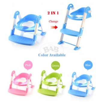 J&J Baby Potty Training Toilet Chair Seat Step Ladder Trainer Toddler - Pink - 5