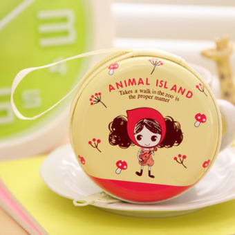 Japan and South Korea round mini portable coin bag tin box