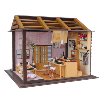 Japanese Sushi Bar DIY Doll House Wooden - Intl