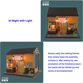 Japanese Sushi Bar DIY Doll House Wooden - Intl - 4