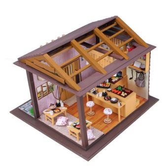 Japanese Sushi Bar DIY Doll House Wooden - Intl - 3