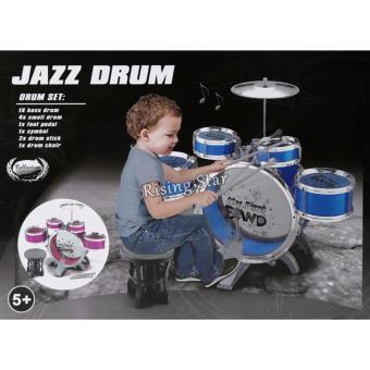 Jazz Drum Set With Chair Musical Toy Instrument for Kids NO. 4008E - 5