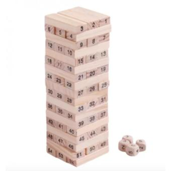 Jenga Classic Wooden Block Stacking Game 54 pieces