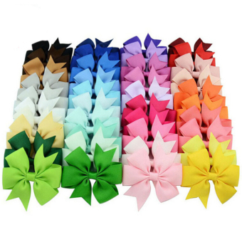 Jetting Buy Bow Hair Clips Solid For Kids Girls 40Pcs Price Philippines
