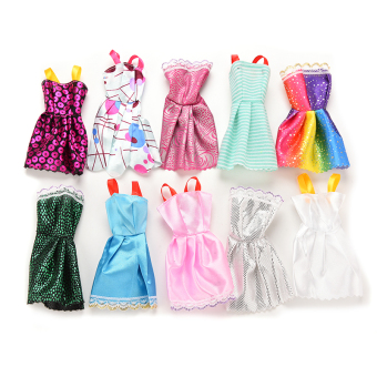 Jetting Buy Princess Dresses Clothes For Barbie doll Style Random 10Pcs