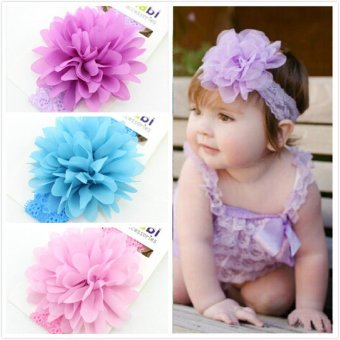 Jiayiqi 3 Pcs Trendy Baby Girl Headbands Flowers Hair Accessories Kid Infant Headwear Children Christmas Gift .. - intl Price Philippines