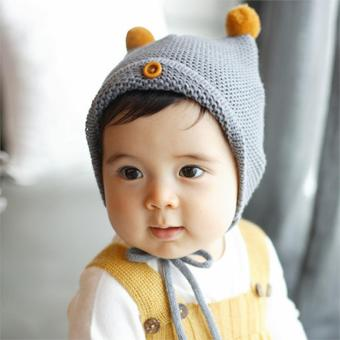 Jiayiqi Baby Boy Girl Infant Toddler Cute Soft Warm Newborn Cap KidGift - intl