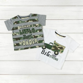 jusTees Baby Boys 2-piece Graphic Tee Set (12M)