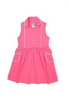 Kate Quinn Organics Carnation Peterpan Apron Dress (Pink)