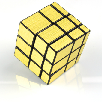 Kathrine mirror gold unusual shape smooth third-order cube