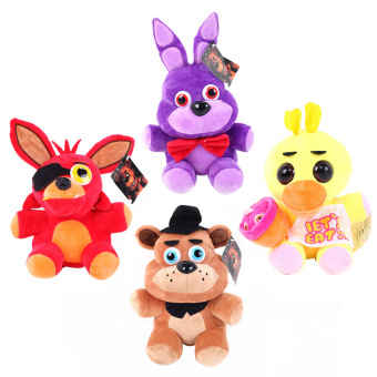 Kawaii Cute 25 cm Five Nights At Freddy's 4 FNAF Freddy Foxy FazbeaLife Size teddy Bear Fox Plush Toys Doll Free Shipping