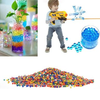 KCMALL 50bags Pearl Shape Soft Crystal Magic Jelly Balls WaterPaintball Bullet Beads Grow Balls Water Toys Wedding Home OrnamentPlant Cultivate Decoration (Multicolor) - intl