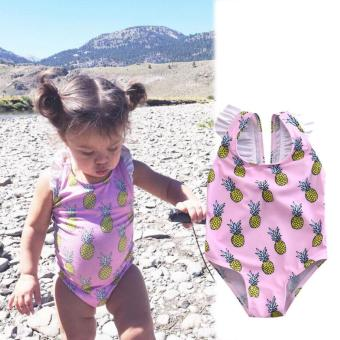 Kid Baby Girls Ananas Bikini Suit Set Swimsuit Swimwear BathingSwimming Clothes