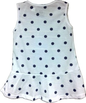 Kid Basix Dress with Navy Wheel Print (White) - picture 2