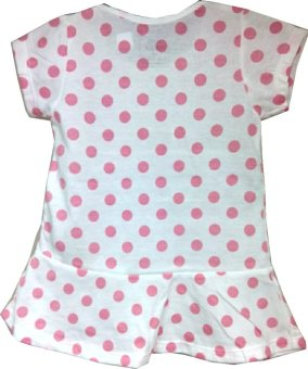 Kid Basix Dress with Pink Dots Print (White) - picture 2