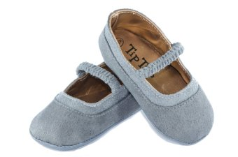 Kid Basix-Tip Tap Suede Mary Janes (Grey)