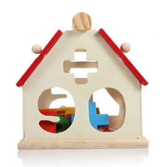 Kid Wooden Digital Number House Building Blocks EducationalIntellectual Toy - 3