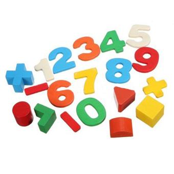 Kid Wooden Digital Number House Building Blocks EducationalIntellectual Toy - 2