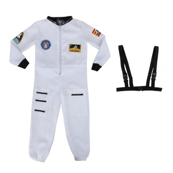 Kids Astronaut Costume Spaceman Fancy Dress Outfit UniformHalloween Cosplay Costume Spacesuit