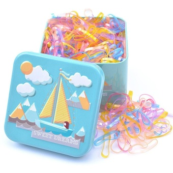 Kids Baby Girl's 700pcs Disposable Hair Ponytail Holder Hair TieElastic Rubber Bands with Lovely Storage Box Style:Pearlescent -intl Price Philippines