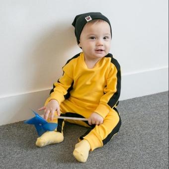 Kids Bruce Lee Pure Cotton Jumpsuit Longsleeve Baby Bodysuit - intl - 4
