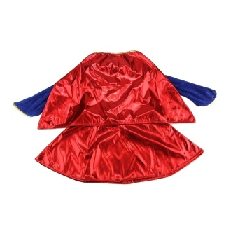 Kids Child Girls Costume Fancy Dress Superhero Supergirl Comic Book Party Outfit - Intl - 5