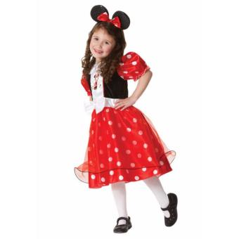 Kids Costume Halloween Costume Birthday Dress Costume Minnie Mouse Costume Dress Children Cosplay Photography Red Polka Outfit 2-3Yrs Price Philippines