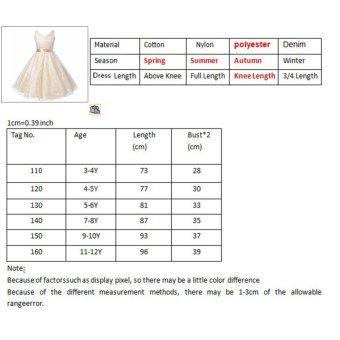 Kids Girls Lace Sleeveless Elegant Princess Birthday Party Dress -intl - 2