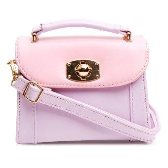 Kids Gold Lock Sling Bag (Violet)