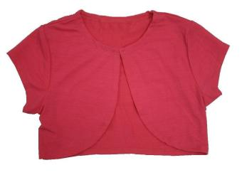 Kids Plain Bolero (Hot Pink)