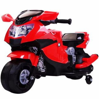 Kids Rechargeable Electric Ride-On Motorcycle (Red)