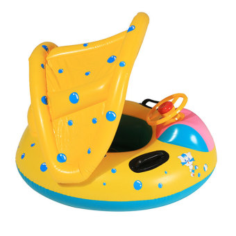 Kids Sunshade Swimming Inflatable Boat Laps (Yellow) - picture 2