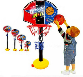 Kids Toddler Baby Children Outdoor Indoor Sports Train EquipmentMini Portable Adjustable Basketball Hoop Toy Set Stand Ball PumpBackboard Net