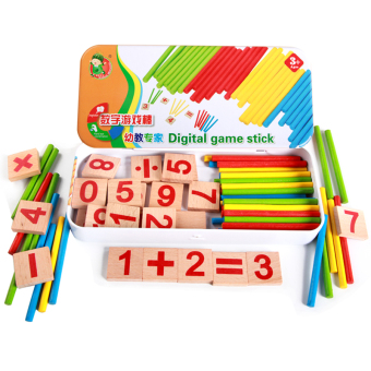 Kids' Early Childhood Education Arithmetic Counting Sticks Box
