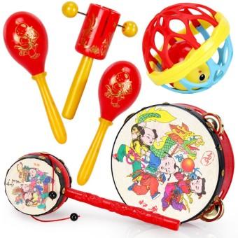Kindergarten hand early childhood music drum rattles