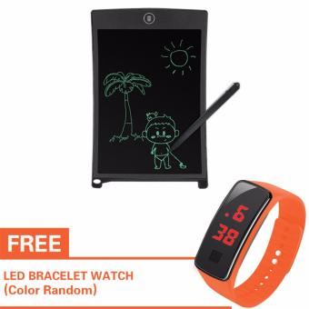 Kingdo 8.5 LCD Writing Tablet Board Office Writing Board(Black) with Stylus Pen with Free LED Watch
