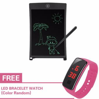 Kingdo 8.5 LCD Writing Tablet Board Office Writing Board(Black)with Stylus Pen with Free LED Watch