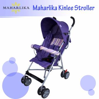 Kinlee B-5 Lightweight Foldable Umbrella Stroller Baby Trolley Cushion Chair Portable Baby Stroller (Purple)